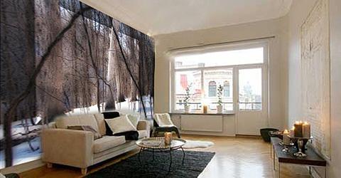 Badkamer inrichting behangpapier for Slaapkamer landelijk modern