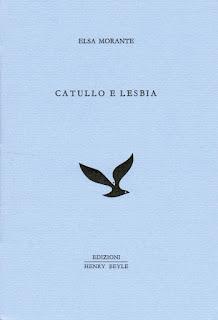 copertina, Catullo e Lesbia di Elsa Morante