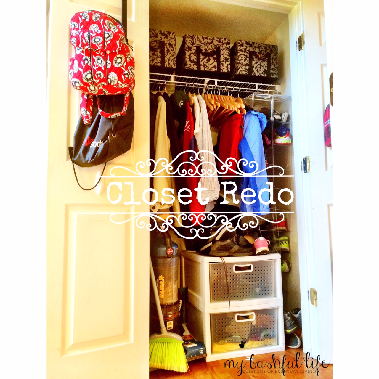 Our Coat Closet Lives In Our Foyer. This Is One Of The Hardest Working  Spaces In Our House And With All The Kids Home For The Summer It Is  Basically A ...