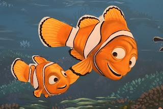 Nemo and Marlin Mural