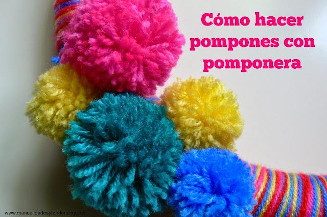 Cómo hacer pompones con pomponera