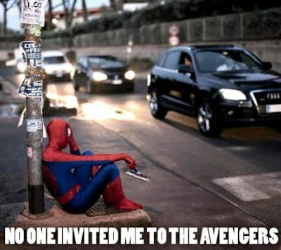 no one invited me to the avengers spiderman