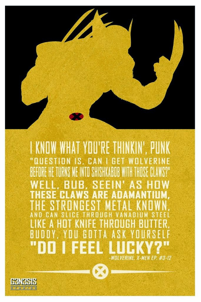 Cultural Compulsive Disorder: Comic Book Quote Posters By G3N3S1S Studios