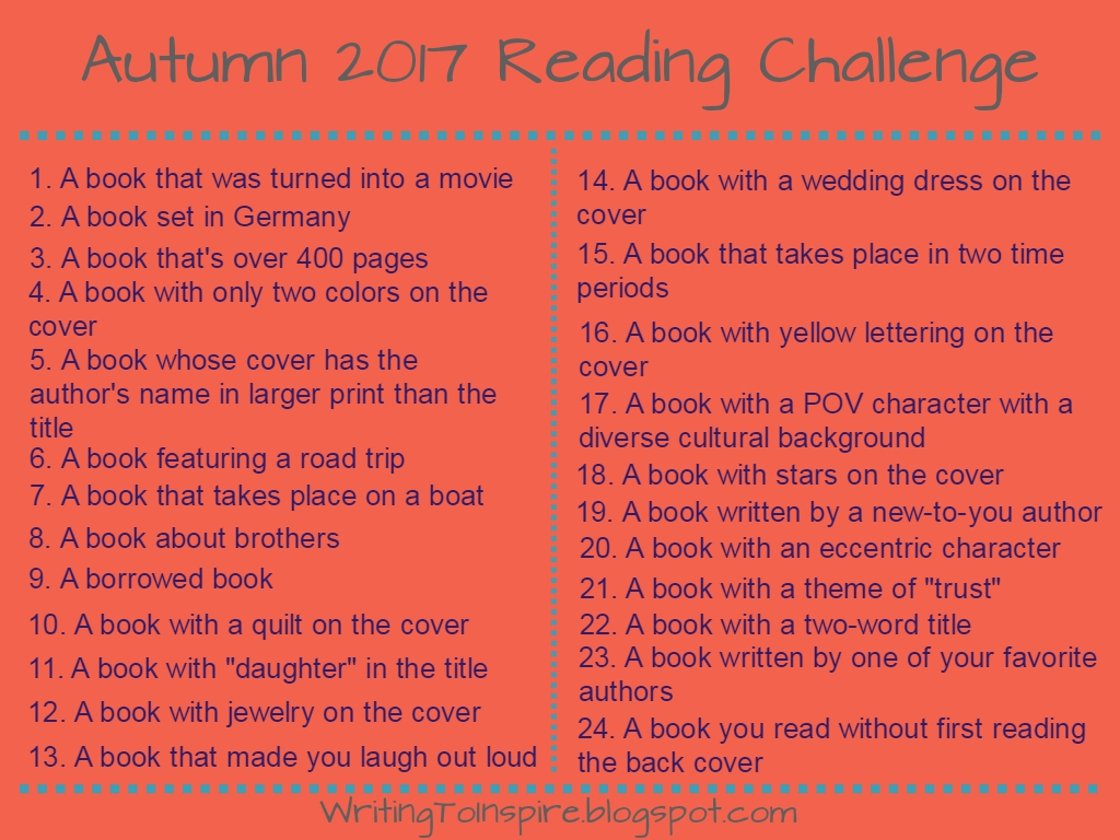 Autumn 2017 Reading Challenge
