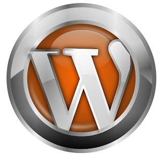 Silver and Orange Wordpress logo