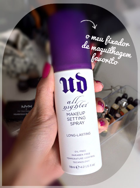 Review All Nighter, Urban Decay, makeup setting spray, daniela pires