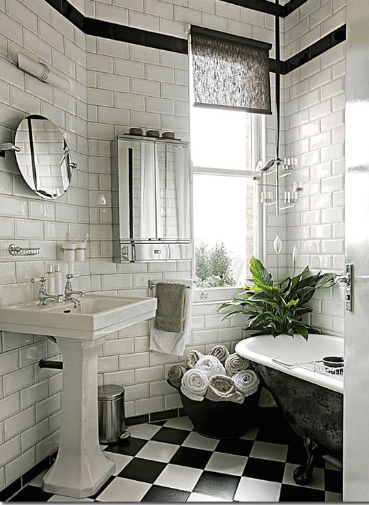 My new old life progettando i bagni for Piastrelle bagno bianche e nere