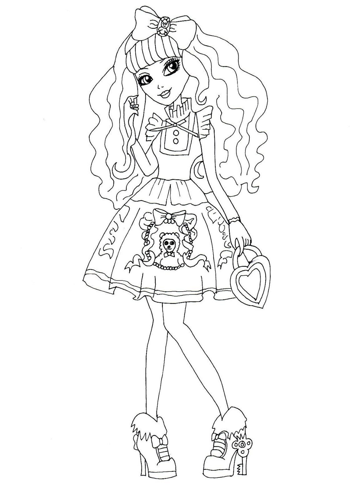 Blondie Locks Ever After High Coloring Page