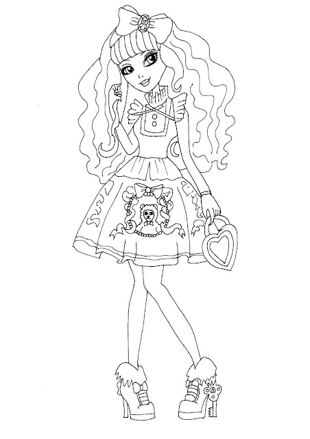 PLEASE CLICK HERE TO PRINT Free Printable Ever After High Blondie Locks Coloring Page