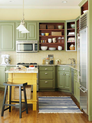 Small kitchen new decorating ideas 2012 modern home dsgn for Small upper kitchen cabinets