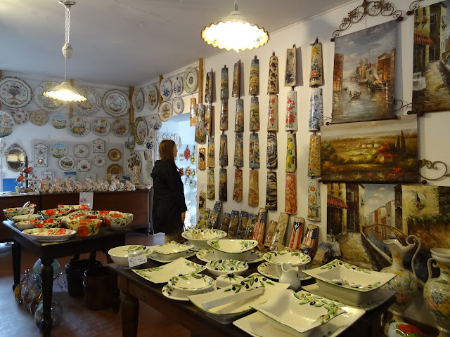 Here my friend kirnan observes the hand painted roof tiles. these