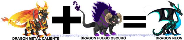 como sacar el dragon neon en dragon city combinacion 2