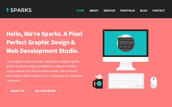 Download Sparks - One Page Responsive Bootstrap Theme - Ninja ...