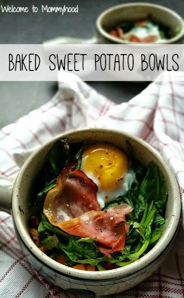 Healthy breakfast recipes: Baked Sweet Potato Bowls {Welcome to Mommyhood} #paleo, #healthybreakfast