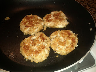 Leftover Stuffing Crab Cakes
