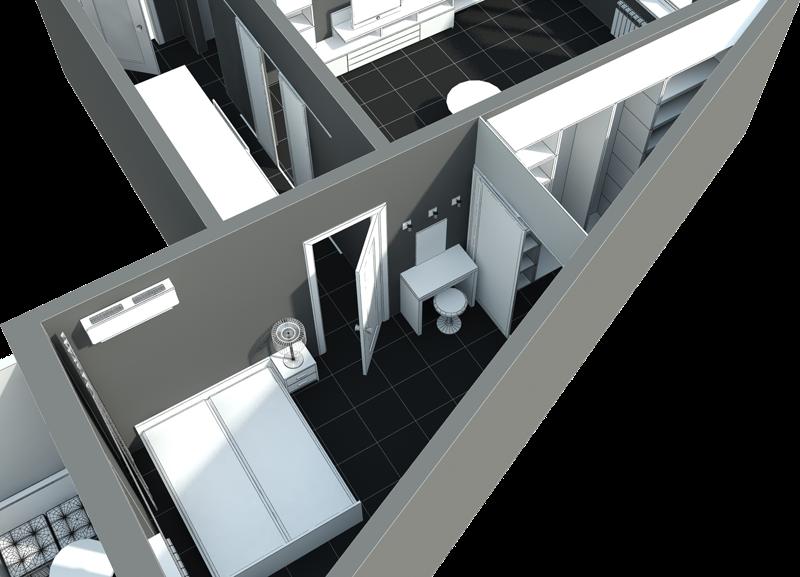 Дизайн треугольных комнат фото