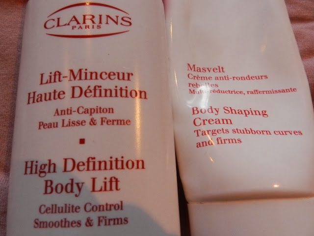Clarins High Definition Body Lift and Clarins Body Shaping cream