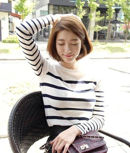 Korean Girl Short Bob Hairstyles photo
