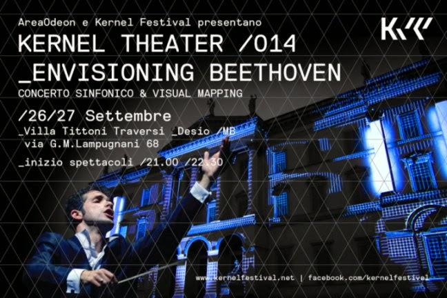 Venerdì 26 e sabato 27 settembre Kernel Theater Envisioning Beethoven: scenografie in 3D Mapping parco di Villa Tittoni a Desio