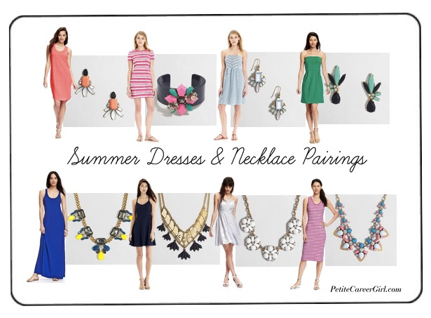 Curvy, Petite Outfit Ideas   Professional Casual Chic Fashion and Style Inspiration   Plus Size Fashion   Summer Fashion   OOTD   Summer: J. Crew Factory Jewelry & Old Navy Dress Pairings (Weekend Style)