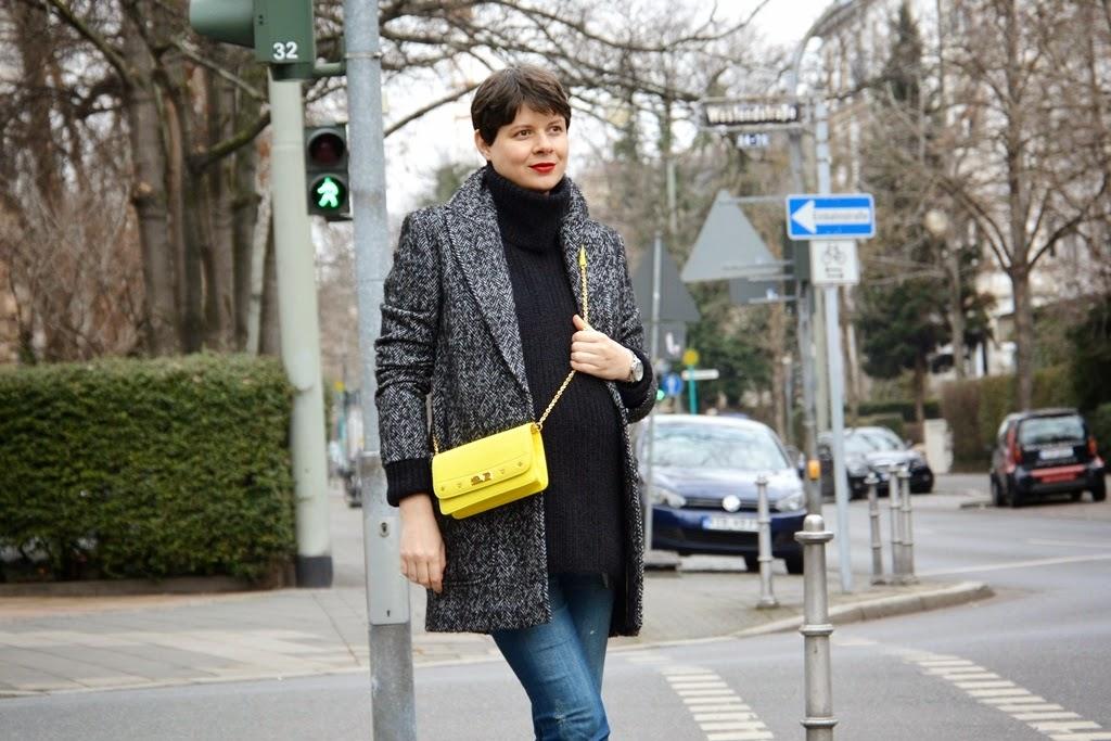 MCM crossbody wallet bag, yellow bag