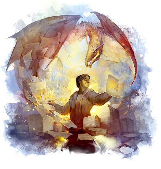 Író és a sárkány