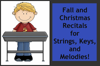 Fall and Christmas Recitals for Strings, Keys, and Melodies photo