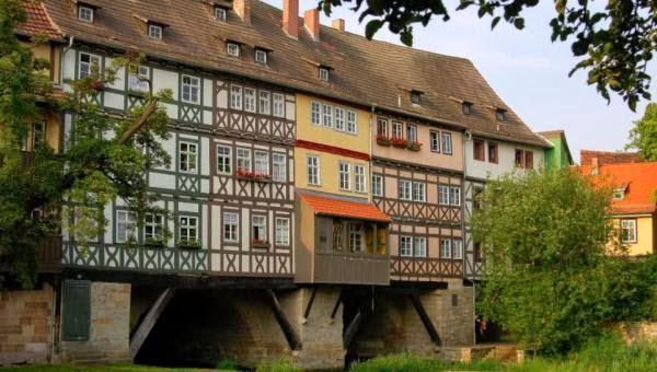 Krämerbrücke, Erfurt, Alemania
