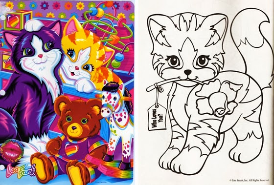 lisa frank coloring pages cats - photo#23