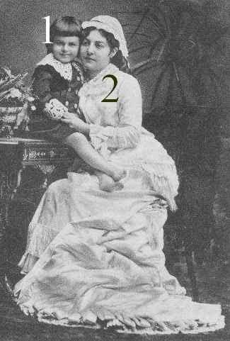 Reine Natalie de Serbie et son fils Alexandre