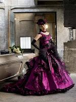 Deep Purple Gothic Wedding Dresses