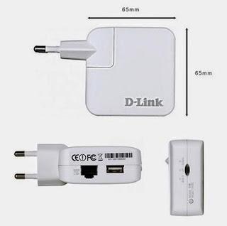 O repetidor de sianl D-Link DIR-503A  é bem discreto e portátil
