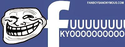 Facebook social network trolling banner