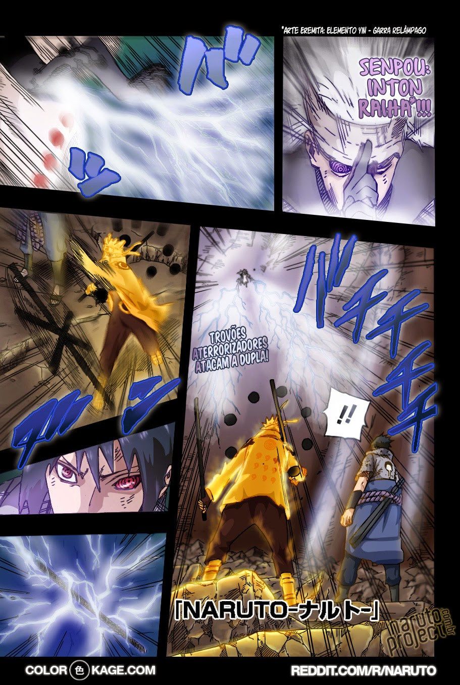 Naruto 674 Mangá Colorido em português leitura online
