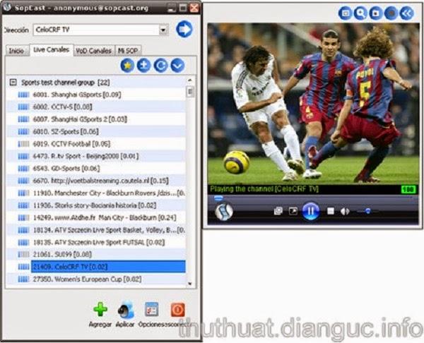 Download Sopcast 3.9.3 mới nhất cho win 7 8 8.1 – Phần mềm xem bóng đá
