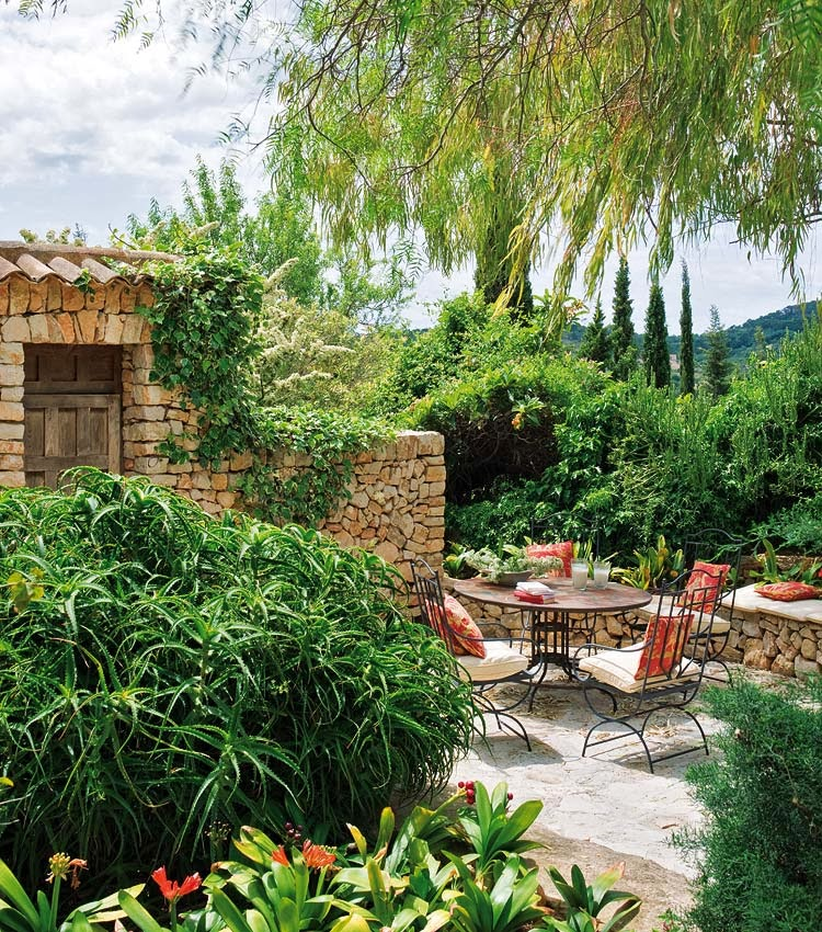 Arte y jardiner a dise o de jardines el jard n r stico for Jardines rusticos