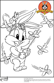 baby bugs bunny playing toys coloring pictures
