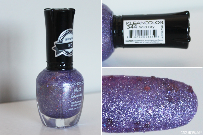 KLEANCOLOR // Nail Polish Haul + Swatches [from Postie] - Textured Wild City - cassandramyee