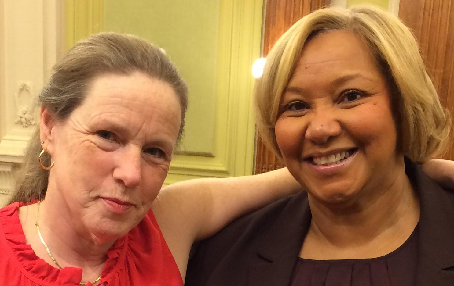 Margaret Dore and District of Columbia Councilmember Yvette Alexander