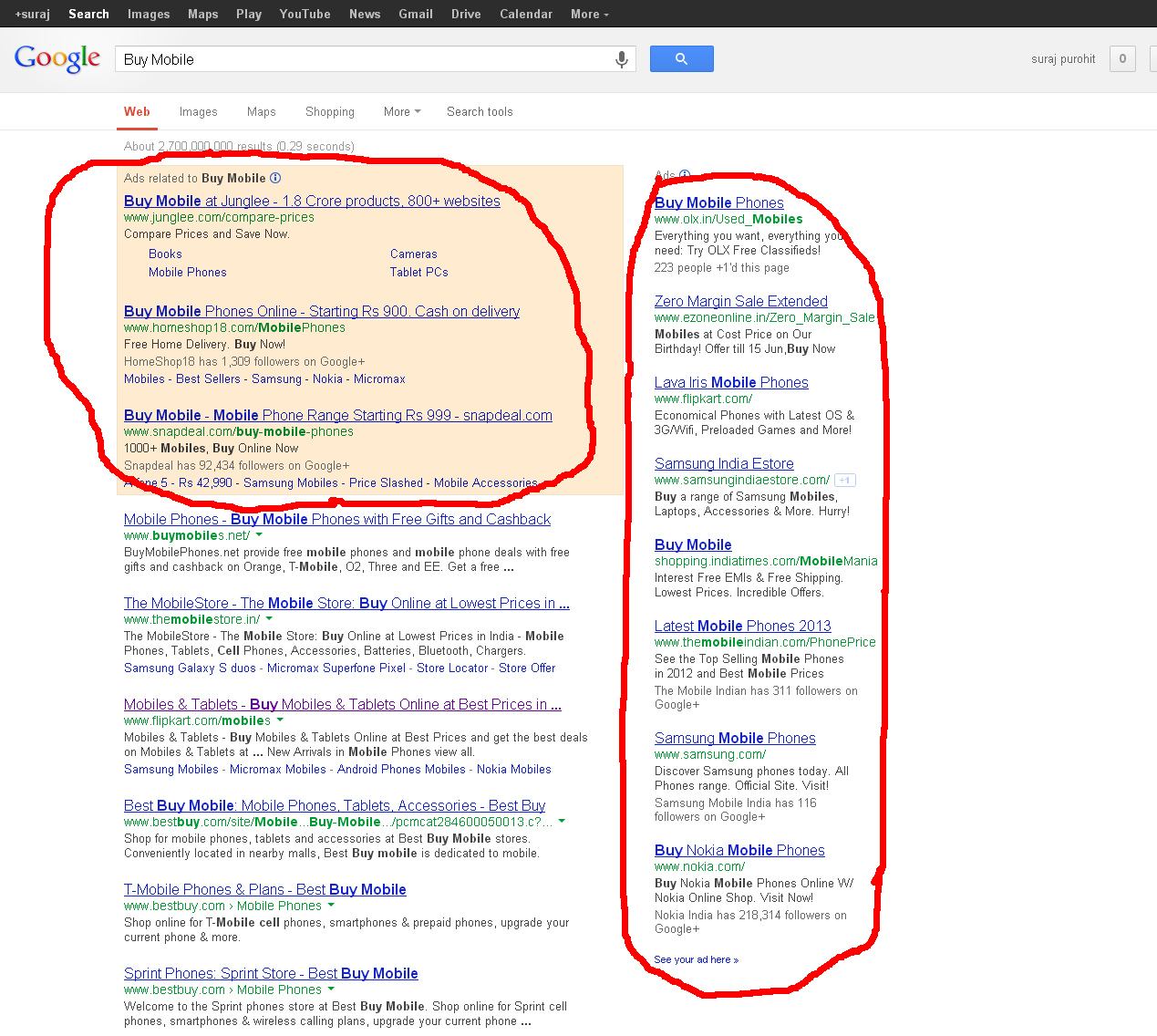 Google Search Advertising Adwords