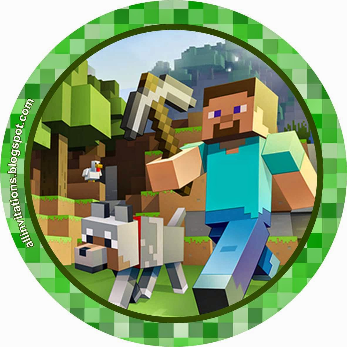 Kit Imprimible Minecraft | All Invitations