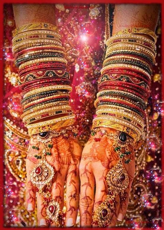 Red bridal bangles 2014