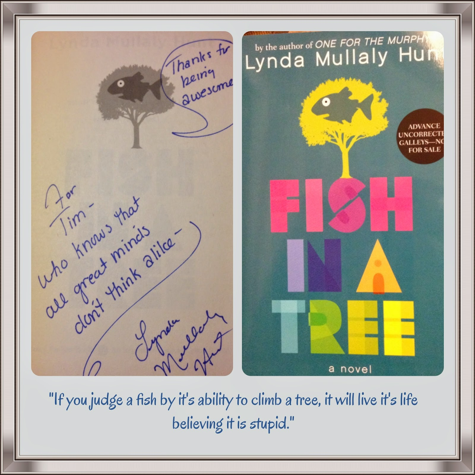 Mr o 39 neill 39 s literary life july 2014 for Fish in a tree by lynda mullaly hunt