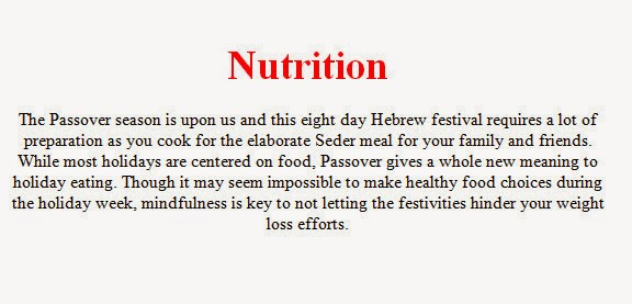 Nutrition health articles recent