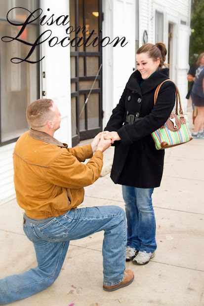 Surprise wedding proposal in Gruene, Texas, photographed by Lisa On Location photography of New Braunfels