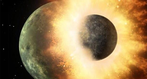 Impacto que formou a Lua produziu um oceano de lava na Terra