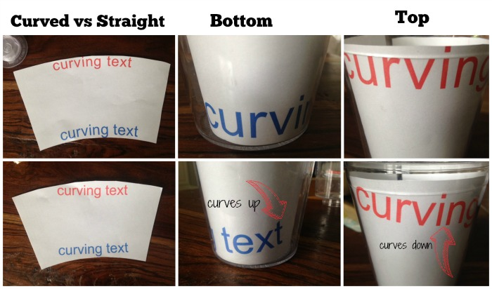 how to put vinyl on cups and tumblers so it s straight