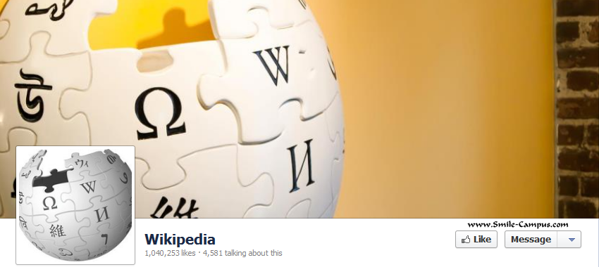 Wikipedia.org Facebook Timeline Page