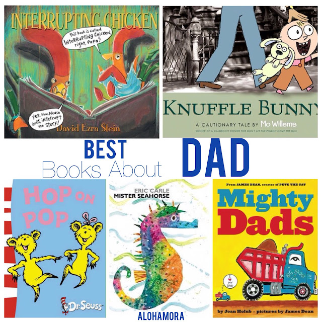 The Best Books About DAD.  5 fabulous picture books that are funny, humorous, and showcase how fun, wonderful, and amazing Dads really are.  These children books, for toddlers to elementary school kids, make great read alouds.  They are the perfect this Father's Day or any day, and make for great gifts.  Alohamora Open a Book http://www.alohamoraopenabook.blogspot.com/ books, parents, teachers, read aloud, funny, rhyming, beginning readers, Caldecott, trucks, informative.