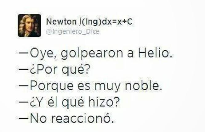 Un chiste de Newton